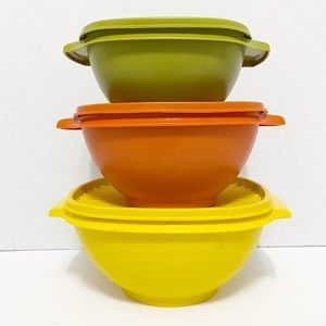 Tupperware Set of 3 Vintage Storage Containers